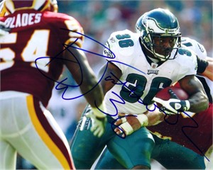 Brian Westbrook autographed Philadelphia Eagles 8x10 photo