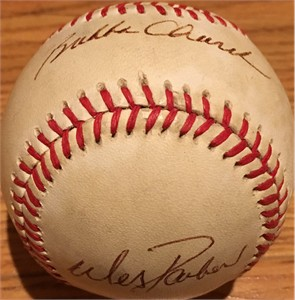 Bubba Church & Wes Parker autographed National League baseball