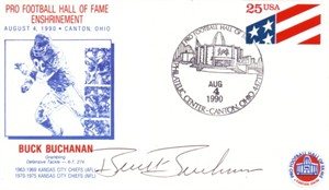 Buck Buchanan autographed Kansas City Chiefs 1990 Hall of Fame Induction cachet
