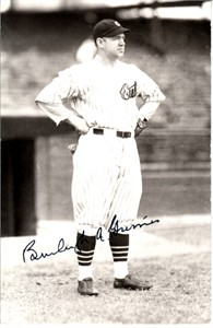 Burleigh Grimes autographed Chicago Cubs 4x6 photo postcard