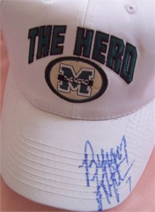 Byron Leftwich autographed Marshall cap