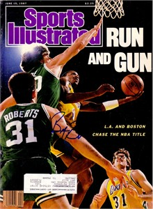 Byron Scott autographed Los Angeles Lakers 1987 Sports Illustrated