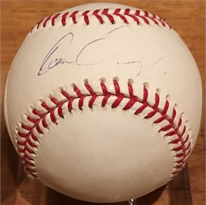 Carlos Gonzalez autographed MLB baseball (faded)