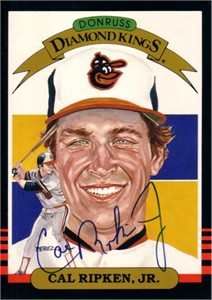 Cal Ripken autographed Baltimore Orioles 1985 Donruss Diamond King 5x7 jumbo card
