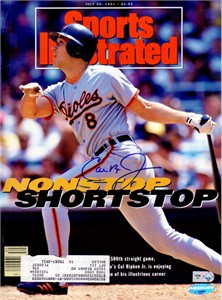 Cal Ripken autographed Baltimore Orioles 1991 Sports Illustrated