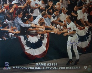 Cal Ripken autographed Baltimore Orioles Consecutive Game 2131 16x20 poster size photo