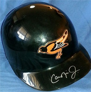 Cal Ripken autographed Baltimore Orioles authentic full size game model ABC batting helmet