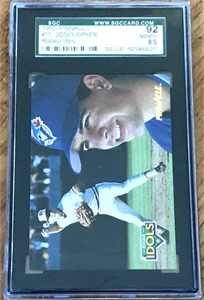 Cal Ripken 1992 Pinnacle Rookie Idols graded SGC 92 (NrMt-Mt++)