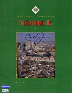 Cal Ripken autographed Baltimore Orioles 1992 Camden Yards First Opening Day program