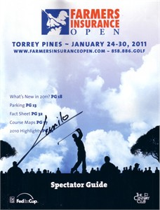 Camilo Villegas autographed 2011 Farmers Insurance Open program