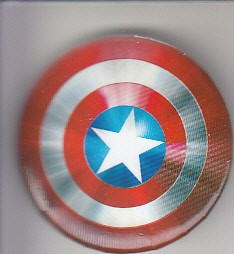 Captain America shield promo button or pin