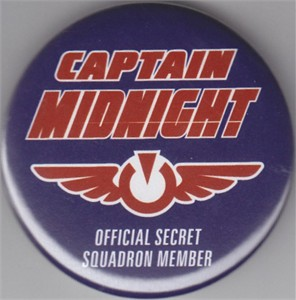 Captain Midnight Dark Horse 2013 Comic-Con button or pin