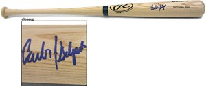 Carlos Delgado autographed Rawlings game model bat