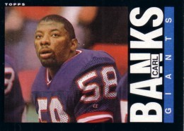 Carl Banks New York Giants Rookie Card BLANK BACK ERROR