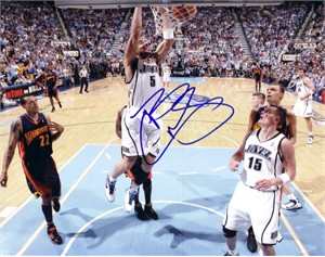 Carlos Boozer autographed Utah Jazz 8x10 photo