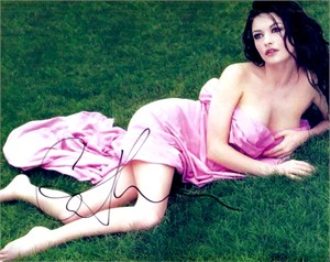 Catherine Zeta-Jones autographed 8x10 photo