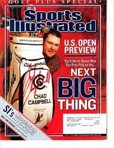 Chad Campbell autographed 2003 Sports Illustrated Golf Plus magazine