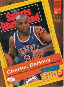 Charles Barkley autographed Phoenix Suns 1992 Sports Illustrated (JSA)