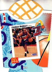 Charles Barkley Phoenix Suns 1994 McDonald's Nothing But Net MVPs french fry container