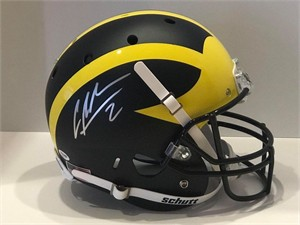 Charles Woodson autographed Michigan Wolverines Schutt full size replica helmet (PSA/DNA)