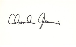 Charlie Joiner autographed 3x5 inch index card (JSA)
