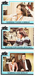 Charlie's Angels 1977 Topps lot of 3 trading cards (Kate Jackson as Sabrina)