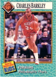 Charles Barkley 76ers 1989 Sports Illustrated for Kids card #29