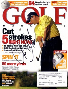 Chris DiMarco autographed Golf Magazine cover