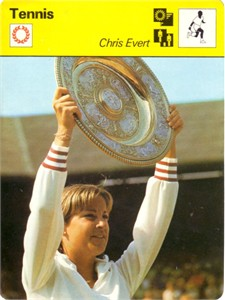 Chris Evert 1977 Sportscaster Rookie Card