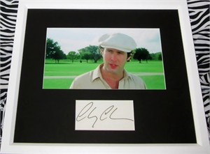 Chevy Chase autograph matted & framed with Caddyshack movie photo