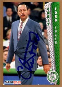 Chris Ford autographed Boston Celtics 1992-93 Fleer card