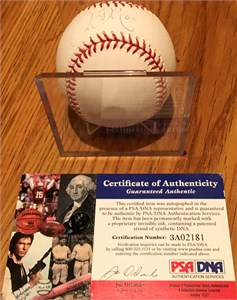 Chien-Ming Wang autographed Rawlings MLB baseball PSA/DNA (faded)
