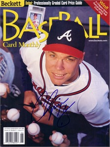 Chipper Jones autographed Atlanta Braves 1999 Beckett Baseball magazine cover