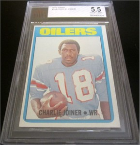 Charlie Joiner 1972 Topps Rookie Card graded BVG 5.5 (Ex+)