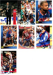 13 New Jersey Nets autographed 1990s cards (Armon Gilliam Chris Morris)
