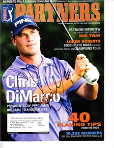Chris DiMarco autographed 2006 PGA Tour Partners magazine