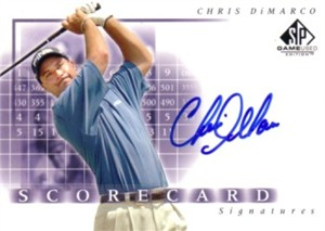 Chris DiMarco certified autograph 2002 SP Game Used Scorecard Signatures golf card