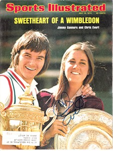 Chris Evert autographed 1974 Wimbledon Sports Illustrated