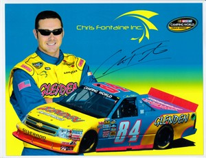 Chris Fontaine autographed NASCAR Camping World Truck Series 8 1/2 x 11 photo