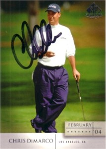 Chris DiMarco autographed 2004 SP Signature golf card