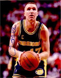 Chris Mullin autographed Golden State Warriors 8x10 photo