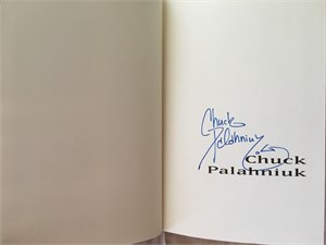 Chuck Palahniuk autographed Fight Club hardcover first edition book
