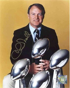 Chuck Noll autographed Pittsburgh Steelers 4 Super Bowl Championships 8x10 photo