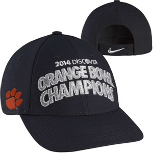 Clemson Tigers 2014 Discover Orange Bowl Champions Nike locker room cap or hat NEW