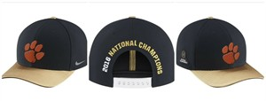 Clemson Tigers 2016 National Champions official Nike locker room cap