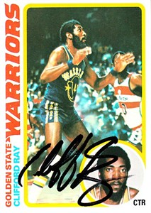 Clifford Ray autographed Golden State Warriors 1978-79 Topps card