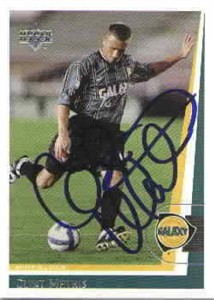 Clint Mathis autographed 1999 MLS Los Angeles Galaxy card