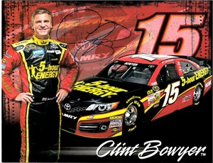 Clint Bowyer autographed 5-Hour Energy NASCAR 8x11 photo card