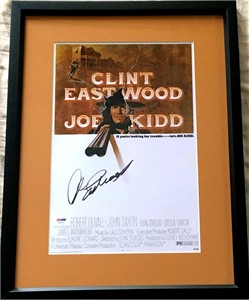 Clint Eastwood autographed Joe Kidd movie poster print matted & framed (PSA/DNA)