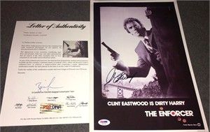 Clint Eastwood autographed The Enforcer 10x15 movie poster print (PSA/DNA)